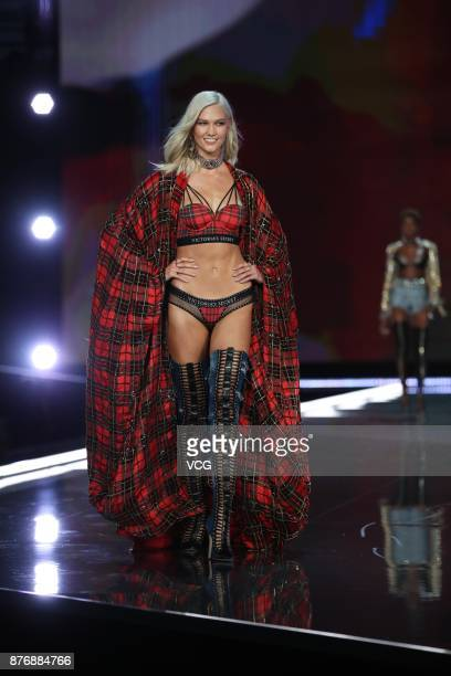 Karlie Kloss walks the runway during the 2017 Victoria's Secret Fashion Show at MercedesBenz Arena on November 20 2017 in Shanghai China