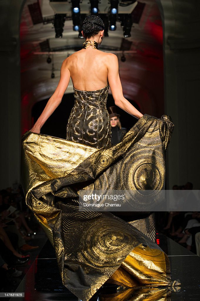 Karlie Kloss walks the runway during the Jean-Paul Gaultier Haute-Couture Show as part of Paris Fashion Week Fall / Winter 2013 on July 4, 2012 in Paris, France.