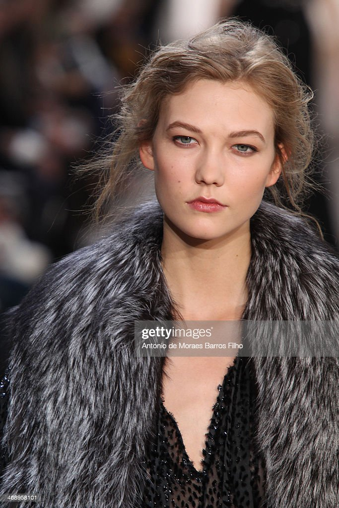 <a gi-track='captionPersonalityLinkClicked' href=/galleries/search?phrase=Karlie+Kloss&family=editorial&specificpeople=5555876 ng-click='$event.stopPropagation()'>Karlie Kloss</a> walks the runway during the Michael Kors fall 2014 fashion show on February 12, 2014 in New York City.
