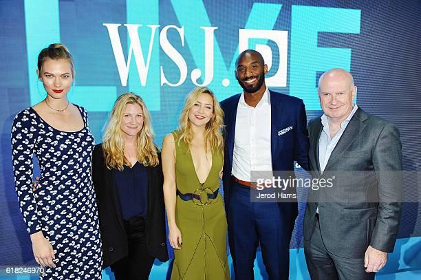 Karlie Kloss WSJ Magazine EditorinChief Kristina O'Neill Kate Hudson Kobe Bryant and WSJ EditorinChief Gerry Baker attend WSJD LIVE After Dark at...