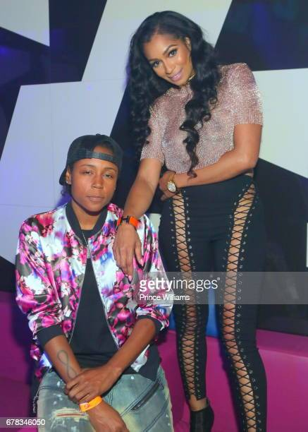 Karlie Redd and DJ M attend The Official Concert After Party Hosted By Chris Brown at Gold Room on May 3 2017 in Atlanta Georgia