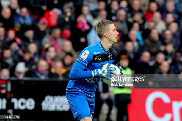 KarlJohan Jonhsson of Guingamp during the French Ligue 1 match between Guingamp and Monaco at Stade du Roudourou on February 25 2017 in Guingamp...