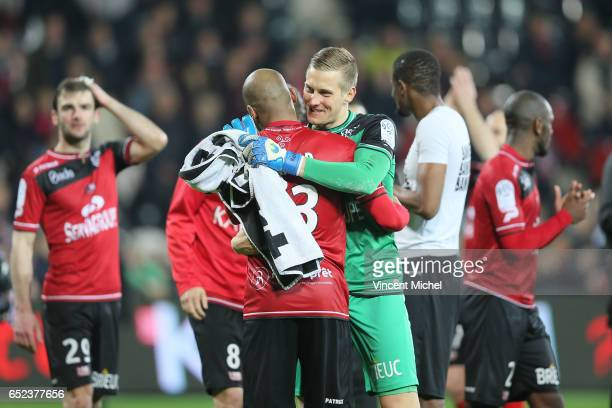 KarlJohan Jonhsson of Guingamp during the Ligue 1 match between EA Guingamp and SC Bastia at Stade du Roudourou on March 11 2017 in Guingamp France