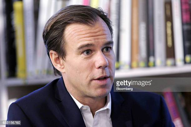 KarlJohan Persson chief executive officer of Hennes Mauritz AB speaks during an interview following a news conference in Stockholm Sweden on Tuesday...