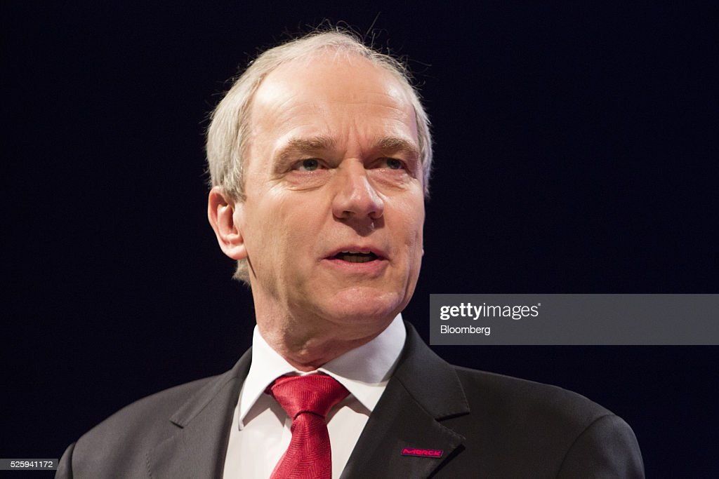 Karl-Ludwig Kley, chief executive officer of Merck KGaA, speaks during the pharmaceutical company's annual general meeting in Frankfurt, Germany, on Friday, April 29, 2016. Kley will replace Werner Wenning as chairman of the supervisory board of EON SE after the company's annual general meeting on June 8, EON said. Photographer: Martin Leissl/Bloomberg via Getty Images