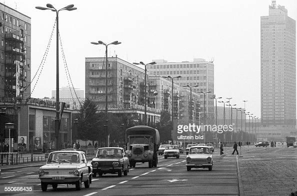 karl marx allee in east berlin pictures getty images. Black Bedroom Furniture Sets. Home Design Ideas