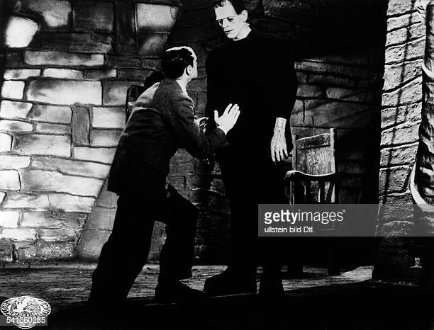 Karloff Boris Actor Great Britain *23111887 Scene from the movie 'Frankenstein' Directed by James Whale USA 1931 Produced by Universal Pictures