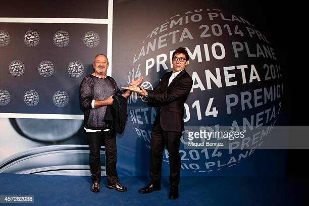 Karlos Arguinano and Manel Fuentes attend the '63th Premio Planeta' Literature Awards at the Palau de Congressos de Catalunya on October 15 2014 in...