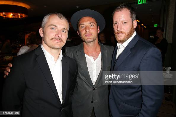 Karlovy Film Festival artistic director Karel Och actor Jude Law and executive producer Krystof Mucha attend the 50th anniversary celebration of the...