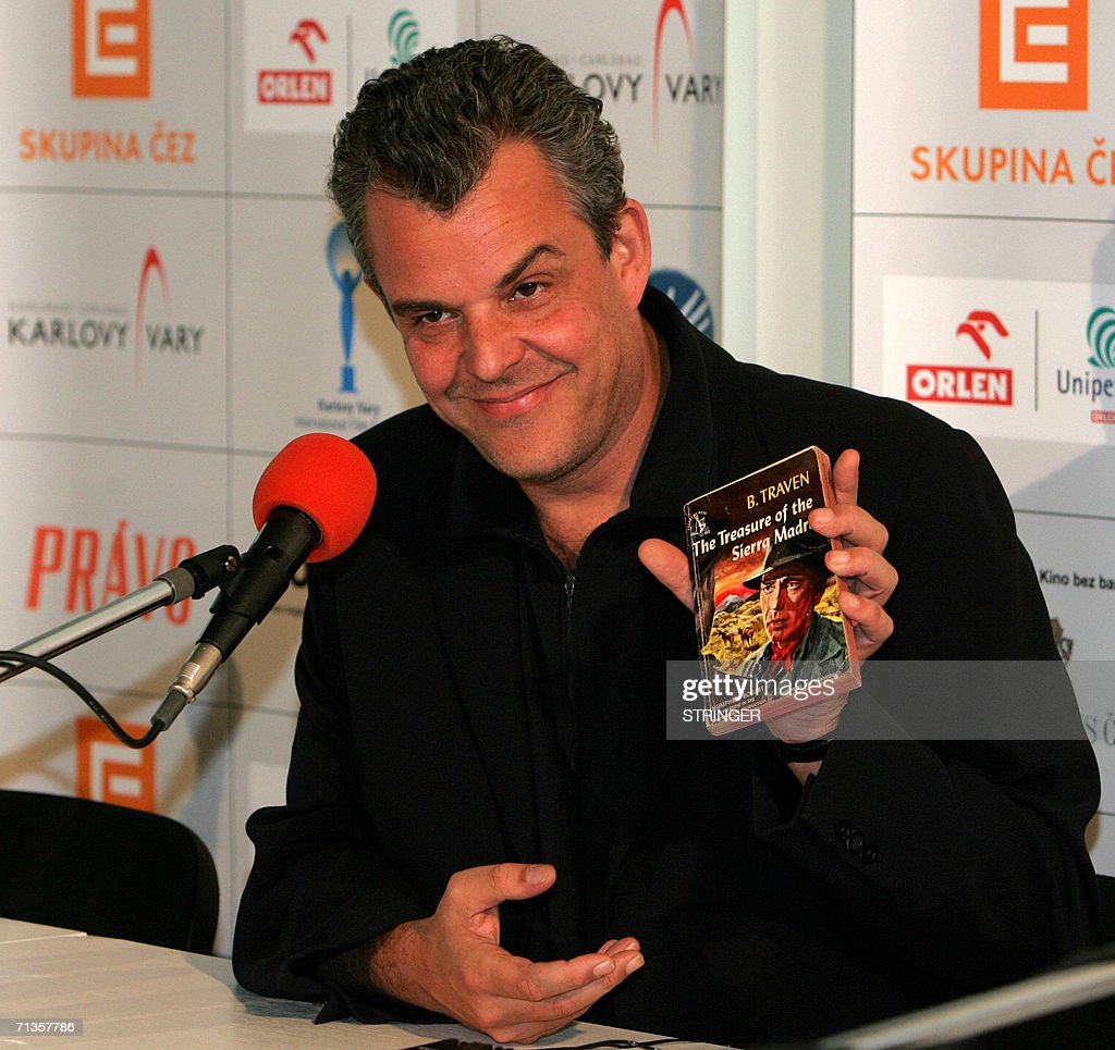 Danny Huston, 44, US filmmaker and actor, and son of legendary US director John Huston, displays 03 July 2006 in Karlovy Vary (Carlsbad), during the 41st Karlovy Vary International Film Festival (KVIFF) the B. Traven novel 'The Treasure of the Sierra Madre', which served as the basis of a script for a John Huston movie. This year?s Karlovy Vary festival includes a special section entitled Tribute to John Huston. Huston, who would have been 100 years old this year, was widely known as a director, screenwriter and actor. The 41st KVIFF will present over 230 features, including 15 world premieres and 39 European or international premieres, from 30 June to 08 July.