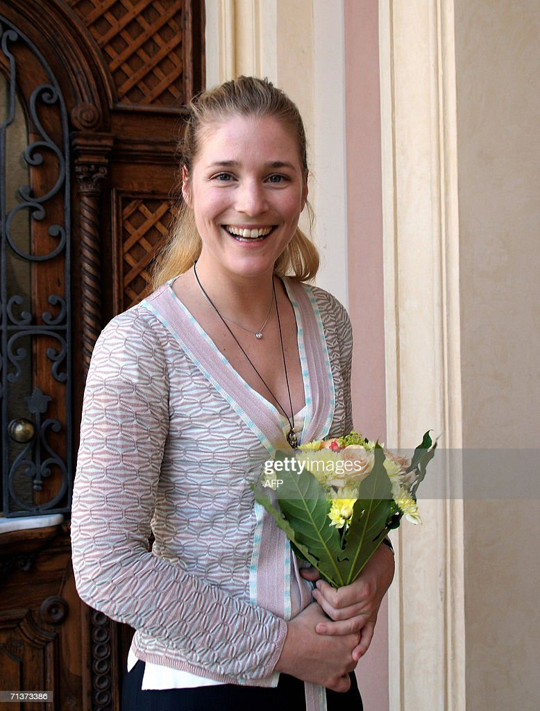 French actress Natacha Regnier smiles 05 July 2006 in Karlovy Vary (Carlsbad) during a photo call at the 41st Karlovy Vary International Film Festival (KVIFF) before screening 'The Wedding Chest' by Nurbeg Egen (Russia-Khirgkizia) in which she stars the role of a French girl to be married to a Khirgkizia man. The 41st KVIFF presents over 230 features, including 15 world premieres and 39 European or international premieres, from 30 June to 08 July.