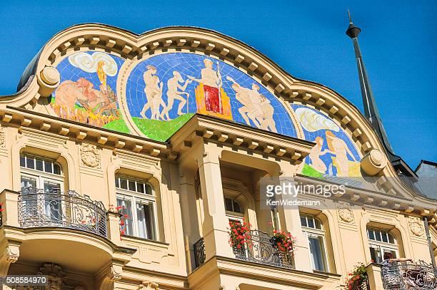 Karlsbad Spa-Fliesen Wandgemälde