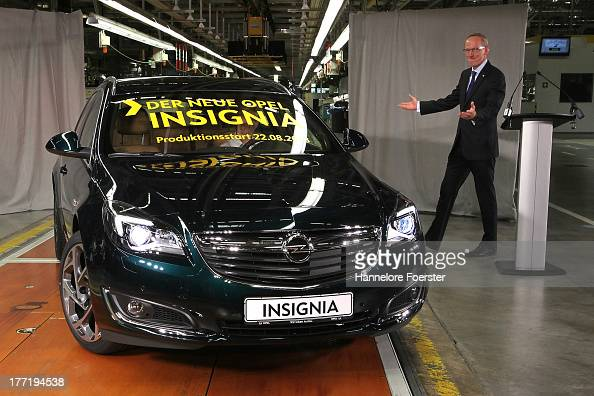 opel launches new insignia production photos and images getty images. Black Bedroom Furniture Sets. Home Design Ideas