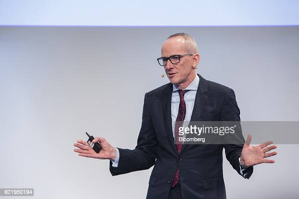 KarlThomas Neumann chief executive officer of Adam Opel AG gestures as he speaks at the Handelsblatt Automotive Summit in Munich Germany on Wednesday...