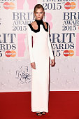Karly Kloss attends the BRIT Awards 2015 at The O2 Arena on February 25 2015 in London England