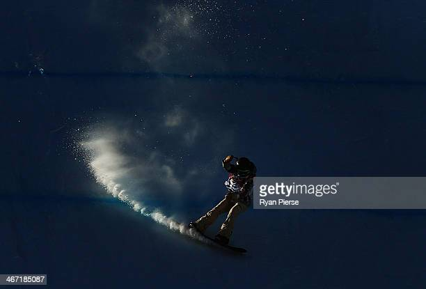 Karly Shorr of the USA competes in the Ladies Snowboard Slopestyle Qualifying at Rosa Khutor Extreme Park on February 6 2014 in Sochi Russia