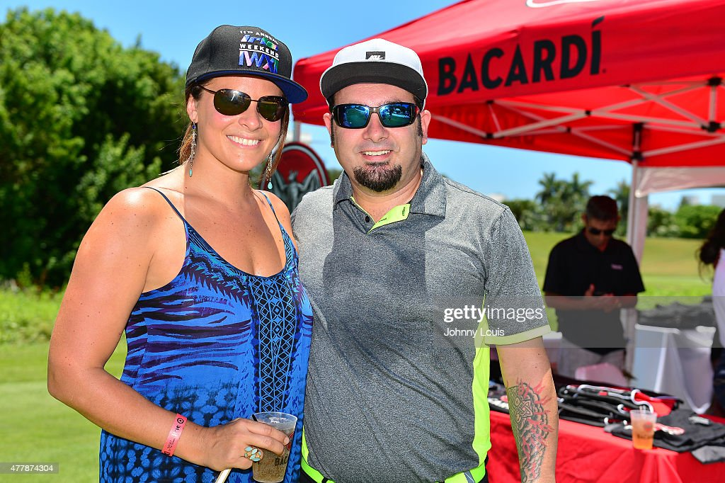 Karly Skladany and Chris Kirkpatrick attends JEEP 11th Annual Celebrity Golf Tournament during The 11th Annual Irie Weekend at Miami Beach Golf Club on June 19, 2015 in Miami Beach, Florida.
