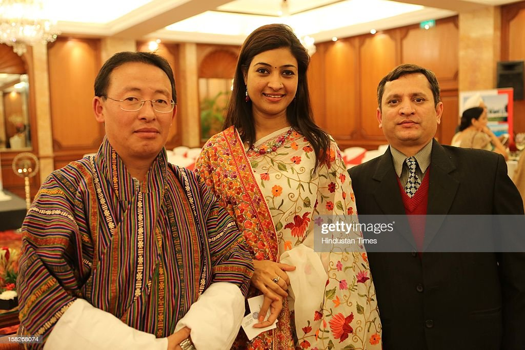 Karma J Thiley, Alka Lamba and Bishnu Prasad Ramsal during SAARC Charter Day organized by SAARC Chambers of Commerce and Industry at Taj Man Singh on December 8, 2012 in New Delhi, India.