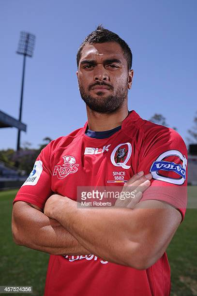 Karmichael Hunt poses for a photograph during a Queensland Reds Super Rugby media opportunity at Ballymore Stadium on October 20 2014 in Brisbane...