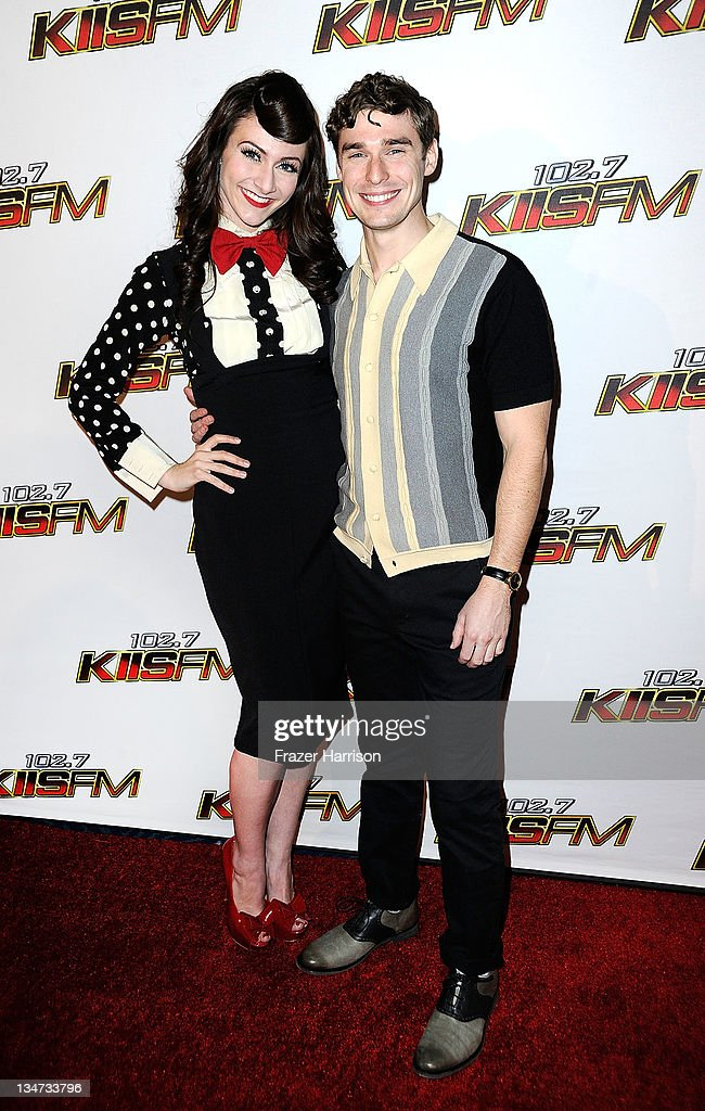 Karmin, Amy Heidemann and Nick Noonan arrive at the KIIS FM's Jingle Ball 2011 at Nokia Theatre L.A. Live on December 3, 2011 in Los Angeles, California.