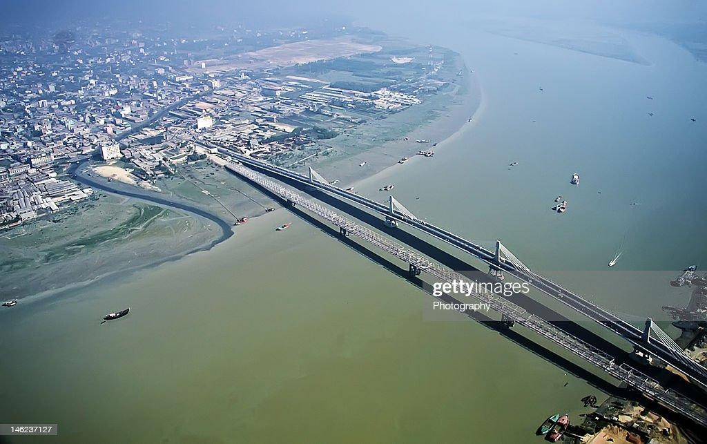 Karnaphuli Bridges (old and new, side by side)