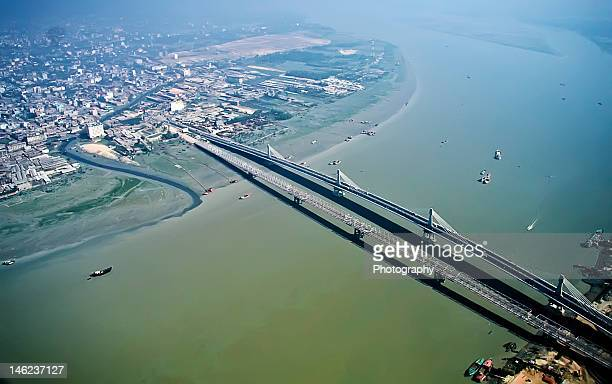 Karnaphuli Bridges (old and new, side by side)