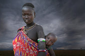 Karo tribe  woman with child