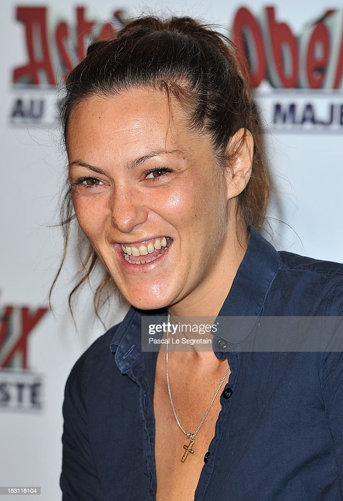 Karol Rocher attends the 'Asterix & Obelix: Au Service De Sa Majeste' premiere at Le Grand Rex on September 30, 2012 in Paris, France.