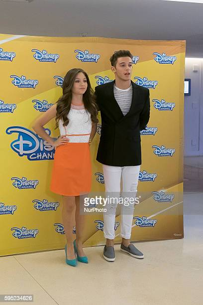 Karol Sevilla and Ruggero Pasquarelli attend 'Soy Luna' photocall at Hesperia Hotel on March 17 2016 in Madrid Spain