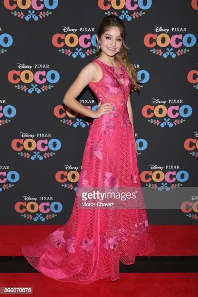 Karol Sevilla attends the 'Coco' Mexico City premiere at Palacio de Bellas Artes on October 24 2017 in Mexico City Mexico