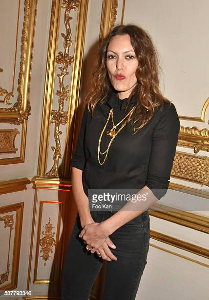 Karole Rocher attends 'Autistes Sans Frontieres' Gala Dinner Arrivals at Hotel Marcel Dassault on June 2 2016 in Paris France