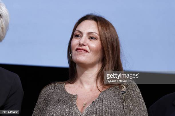 Karole Rocher attends the opening ceremony of 9th Film Festival Lumiere In Lyon on October 14 2017 in Lyon France