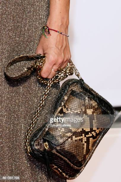 Karole Rocher purse detail attends opening ceremony of 9th Film Festival Lumiere In Lyon on October 14 2017 in Lyon France
