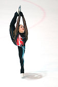 Karoliina Luhtonen of Finland skates during the junior ladies short dance of the ISU Junior Grand Prix at Dom Sportova on October 8 2015 in Zagreb...