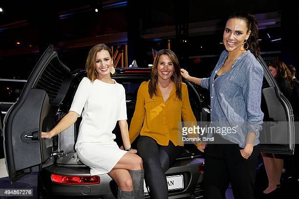 Karolin Oltersdorf Birgit Noessing and Esther Sedlaczek attend the premiere of the new MINI Clubman on October 29 2015 in Munich Germany