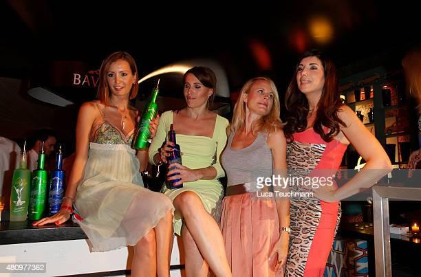 Karolin Oltersdorf Birgit Noessing Sonja Kiefer and Alexandra Polzin attend the New Faces Award Fashion 2015 on July 16 2015 in Munich Germany