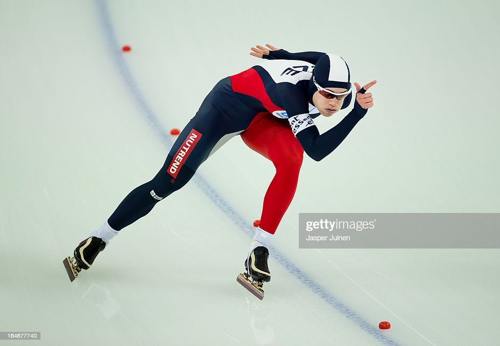 Karolina Erbanova of the Czech Republic competes during the 500m race on day four of the Essent ISU World Single Distances Speed Skating Championships at the Adler Arena Skating Center on March 24, 2013 in Sochi, Russia.