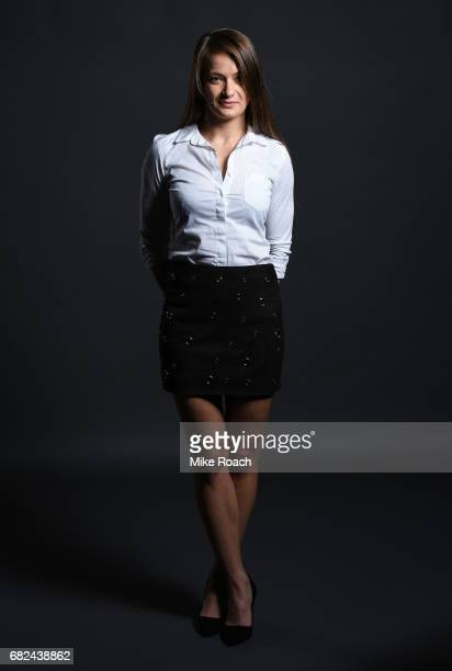 Karolina Kowalkiewicz of Poland poses for a portrait backstage during the UFC Summer Kickoff Press Conference at the American Airlines Center on May...