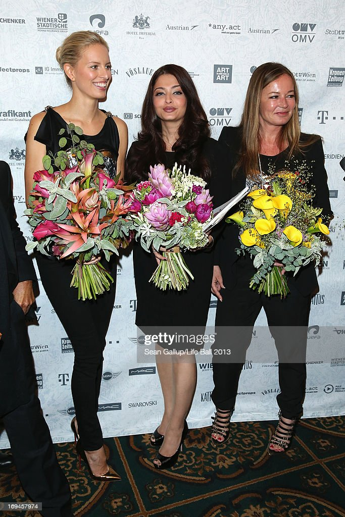 <a gi-track='captionPersonalityLinkClicked' href=/galleries/search?phrase=Karolina+Kurkova&family=editorial&specificpeople=202513 ng-click='$event.stopPropagation()'>Karolina Kurkova</a>, <a gi-track='captionPersonalityLinkClicked' href=/galleries/search?phrase=Aishwarya+Rai&family=editorial&specificpeople=202237 ng-click='$event.stopPropagation()'>Aishwarya Rai</a> Bachchan and <a gi-track='captionPersonalityLinkClicked' href=/galleries/search?phrase=Eva+Cavalli&family=editorial&specificpeople=1719408 ng-click='$event.stopPropagation()'>Eva Cavalli</a> attend the 'Life Ball 2013 - Press Conference' at Hotel Imperial Vienna on May 25, 2013 in Vienna, Austria.