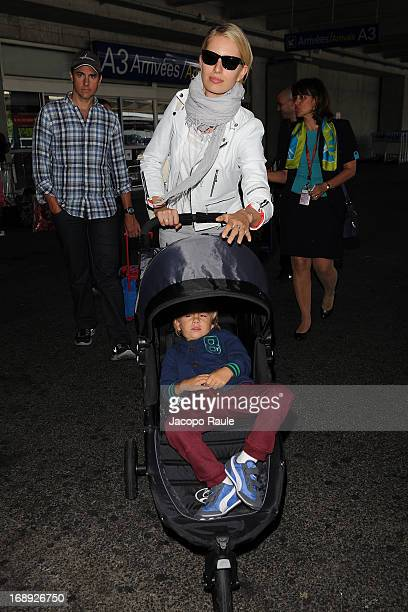 Karolina Kurkova and Archie Drury are seen arriving at Nice airport during The 66th Annual Cannes Film Festival on May 17 2013 in Nice France