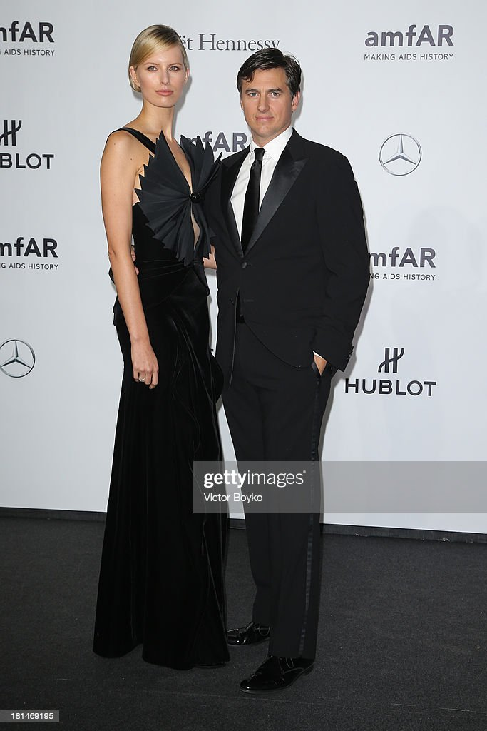 <a gi-track='captionPersonalityLinkClicked' href=/galleries/search?phrase=Karolina+Kurkova&family=editorial&specificpeople=202513 ng-click='$event.stopPropagation()'>Karolina Kurkova</a> and Archie Drury attend the amfAR Milano 2013 Gala as part of Milan Fashion Week Womenswear Spring/Summer 2014 at La Permanente on September 21, 2013 in Milan, Italy.