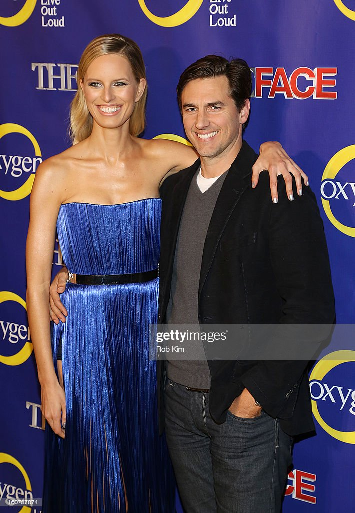 Karolina Kurkova and Archie Drury attend 'The Face' Series Premiere at Marquee New York on February 5, 2013 in New York City.
