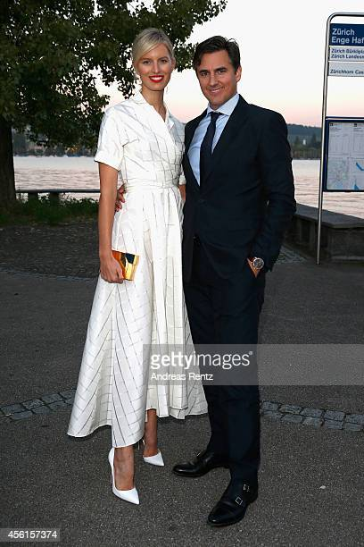 Karolina Kurkova and Archie Drury attend the Women of Impact Reception during Day 2 of Zurich Film Festival 2014 on September 26 2014 in Zurich...