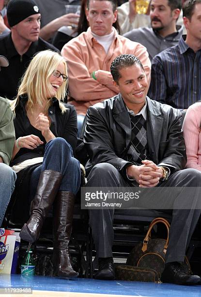 Karolina Kurkova and Carlos Beltran during Celebrities Attend Phoenix Suns vs New York Knicks Game January 25 2005 at Madison Square Garden in New...