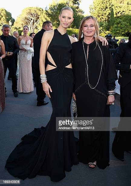 Karolina Kurkova and Eva Cavalli attend amfAR's 20th Annual Cinema Against AIDS during The 66th Annual Cannes Film Festival at Hotel du CapEdenRoc on...