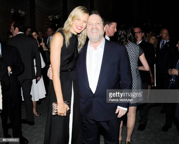 Karolina Kurkova and Harvey Weinstein attend The Hollywood Reporter celebrates The 35 Most Powerful People in Media at The Four Seasons Pool Room on...