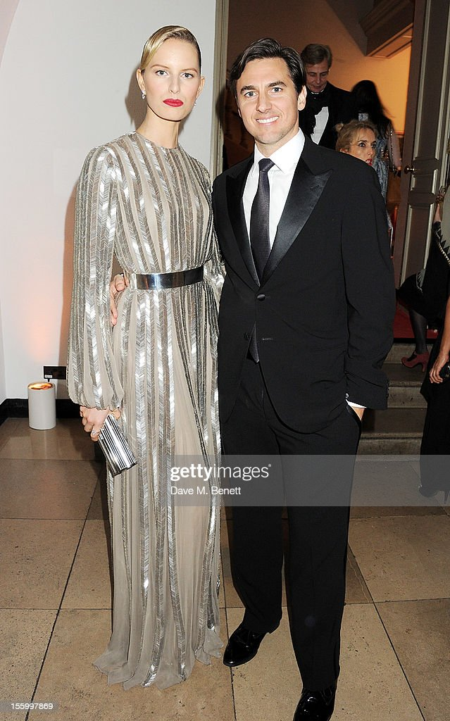 Karolina Kurkova (L) and husband Archie Drury attend the Place For Peace dinner co-hosted by Ella Krasner and Forest Whitaker to support the Peace Earth Foundation in association with Star Diamond at Banqueting House on November 10, 2012 in London, England.