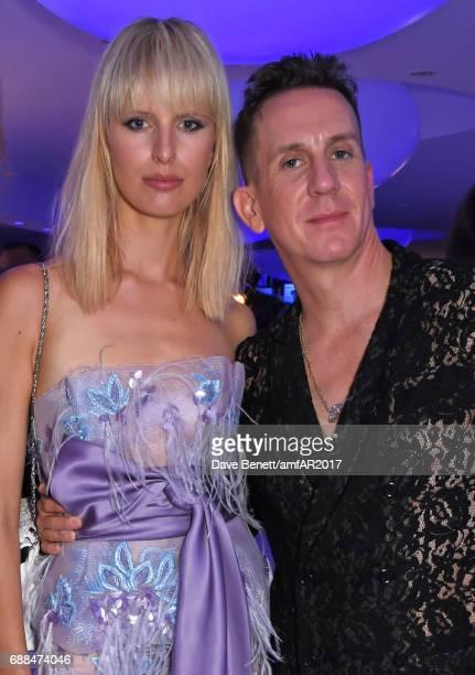 Karolina Kurkova and Jeremy Scott attend the amfAR Gala Cannes 2017 at Hotel du CapEdenRoc on May 25 2017 in Cap d'Antibes France