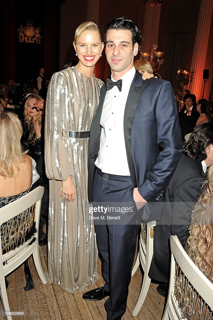 Karolina Kurkova (L) and John Krasner attend the Place For Peace dinner co-hosted by Ella Krasner and Forest Whitaker to support the Peace Earth Foundation in association with Star Diamond at Banqueting House on November 10, 2012 in London, England.