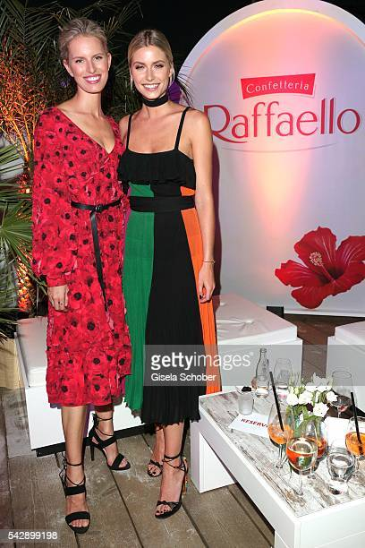 Karolina Kurkova and Lena Gercke during the Raffaello Summer Day 2016 to celebrate the 26th anniversary of Raffaello on June 24 2016 in Berlin Germany